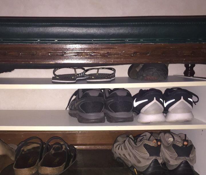 church pew to hall storage shoe bench