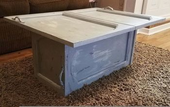 Cabinet Doors to Coffee Table