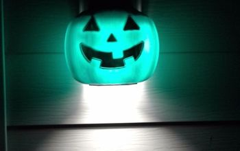DIY Pumpkin Pail Light Covers