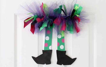 witch legs a halloween wreath idea