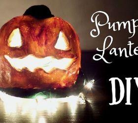 Diy Pumpkin Lantern Using Handmade Clay Easy Halloween Craft Hometalk