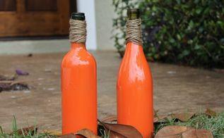 how to make easy wine bottle pumpkins