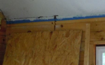 q something has left dark spots running down the walls in cabin
