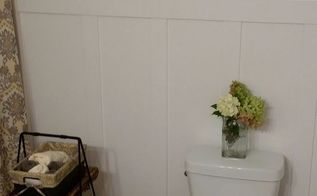 guest bathroom makeover with hand crafted vanity