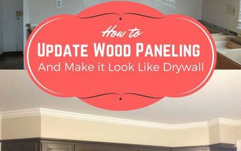 how to make paneling look like drywall 5 easy steps