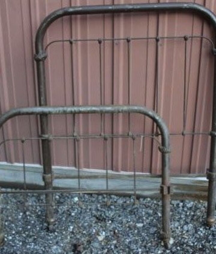 q how to set up an antique iron headboard and baseboard
