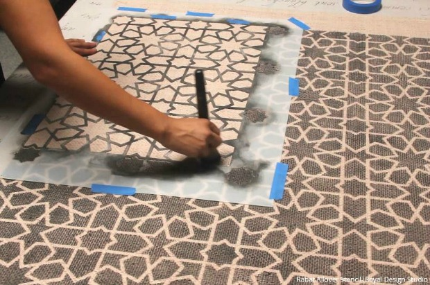 Roll It Out How To Stencil A Custom Diy Area Rug Hometalk