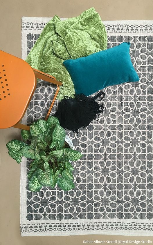 roll it out how to stencil a custom diy area rug