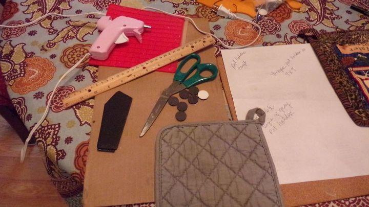 pot holder scissor holder fast easy gift idea