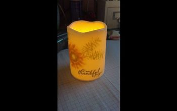 putting a stamped image on a led candle