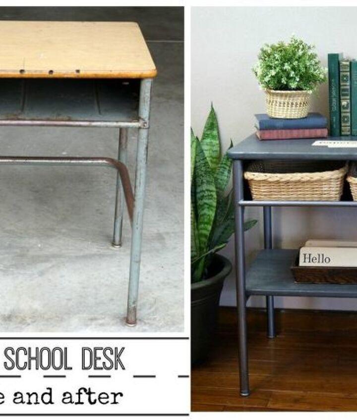 vintage school desk make over