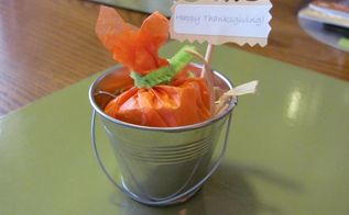 pumpkin in a pail party favour