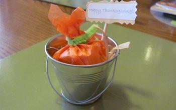 pumpkin in a pail party favour