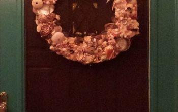 Shell Wreath for Screen Door