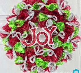 Christmas DIY Deco Mesh Wreath