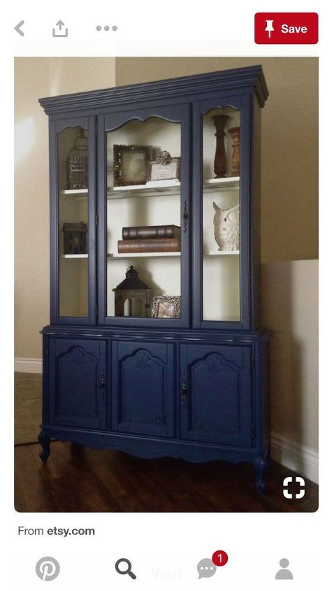 q painting an old china cabinet to a blueish color any suggestions