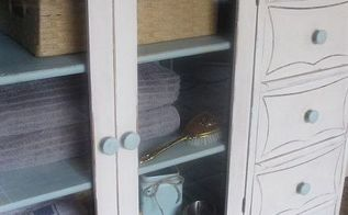 once dining hutch now ensuite cabinet