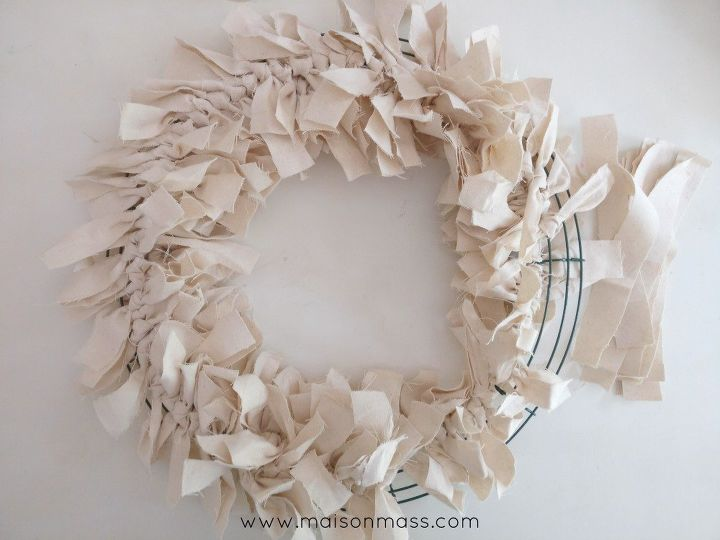 drop cloth wreath