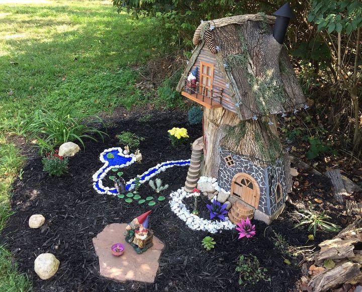 Gnome Tree Stump Home Hometalk