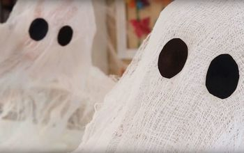 How to Make Cheesecloth Ghosts With Stiffy Mod Podge