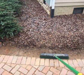 Add On Driveway With Mulch