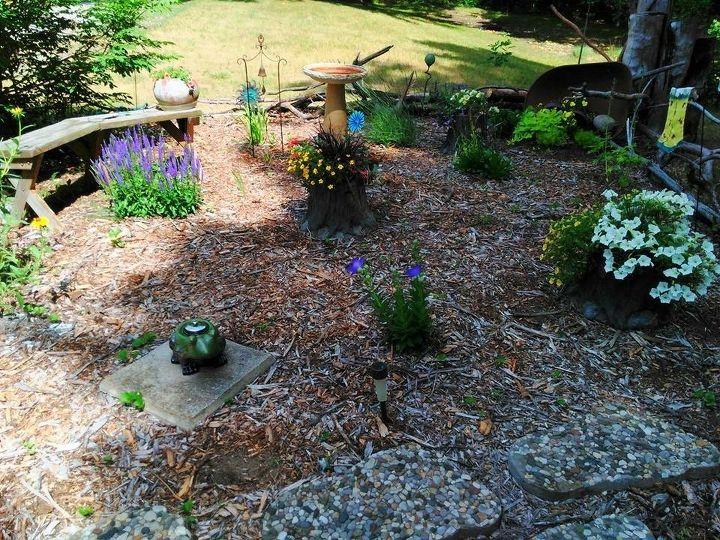 spring flowerbed project
