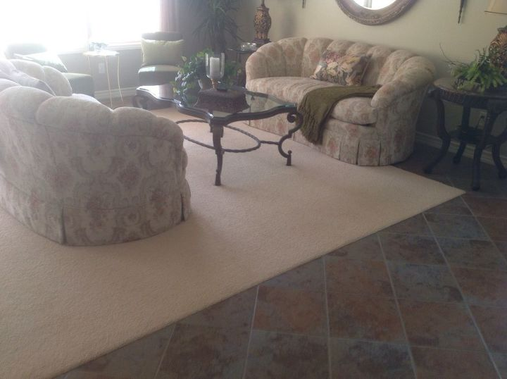 q do u match a rug to your furniture or to your tile or wood floor