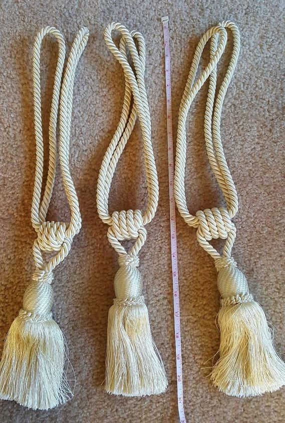 q what can i do with silk curtain tiebacks w tassels i have 3