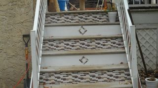 , I installed these tiles on my stairs off my deck in early fall and they are holding up great