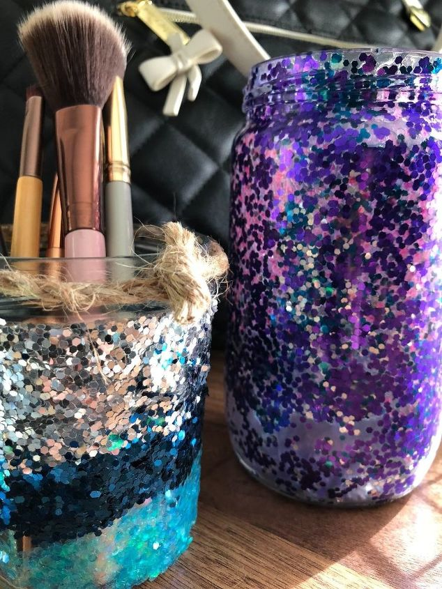 glitter jelly jar