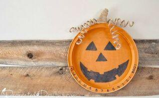 fun halloween countdown made from an old metal tray