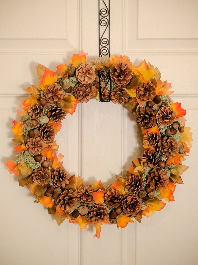 how to make a beautiful fall wreath or centerpiece
