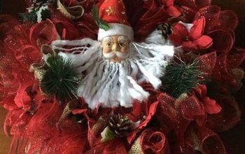 dollar store christmas holiday burlap wreath