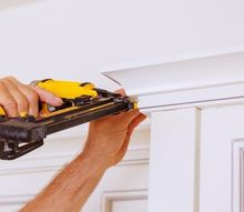 add crown molding to your kitchen cabinets