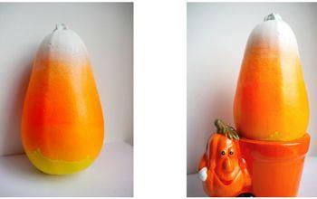 candy corn squash fall craft idea