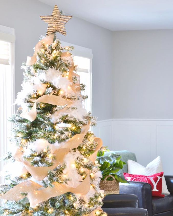 how to flock your own christmas tree