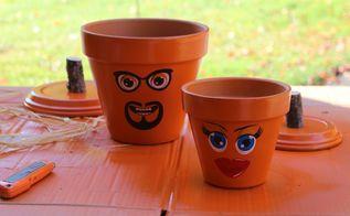 clay pot jack o lantern gifts