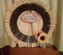 clothespin wreath my weekly post using woo