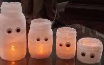 Mason Jar Mummy Family