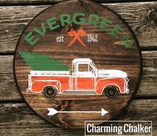 vintage truck wood sign