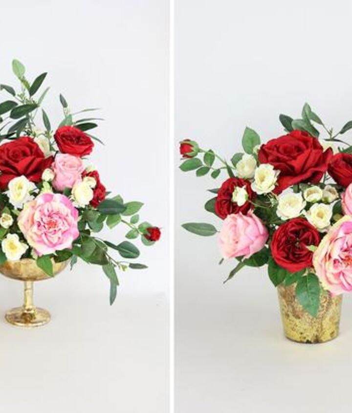 how to make a rose centerpiece