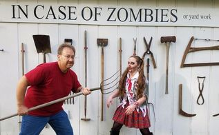 in case of zombies or yard work