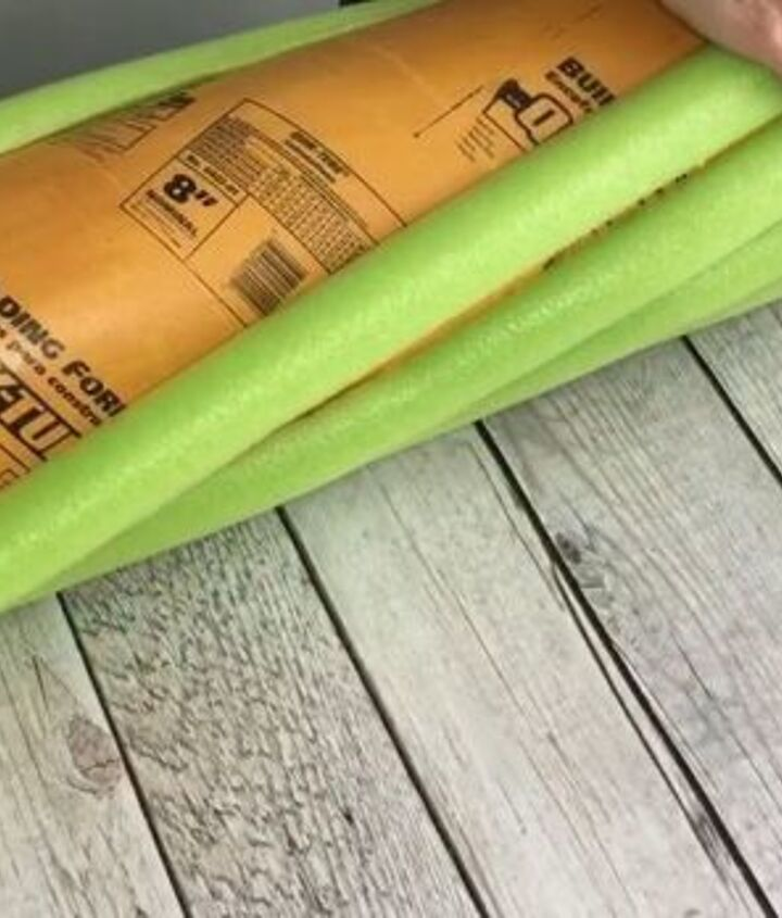 s grab some pool noodles and copy these 3 ideas, Step 4 Begin laying noodles onto cement form