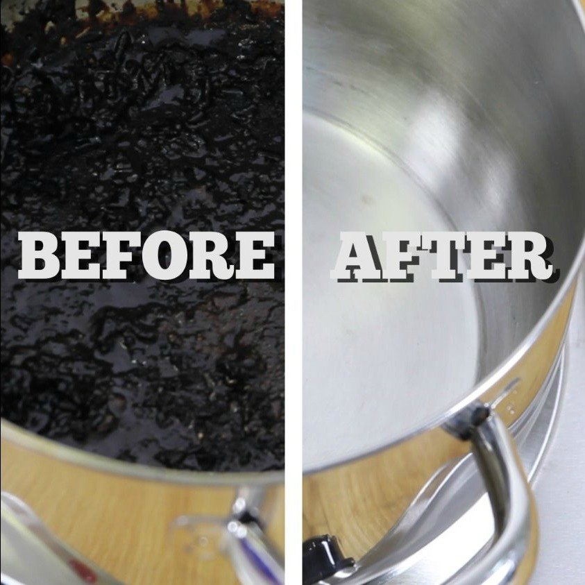s 30 essential hacks for cleaning around your home, Clean Burnt Pots With Lemons