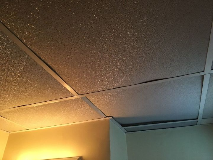 q i have drop ceiling in my bathroom that looks cheap needs facelift