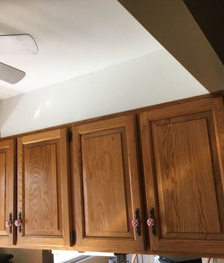 q outdated honey oak cabinets