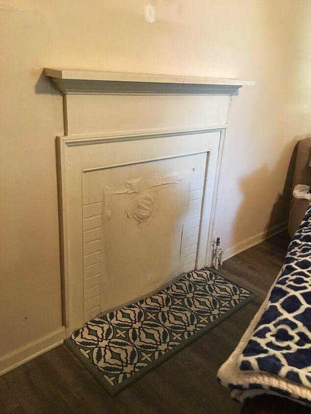 q old fireplace needs an upgrade