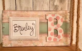 shabby chic frame using tissue paper