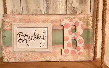 Shabby Chic Frame - Using Tissue Paper!