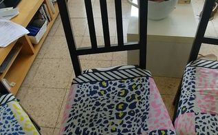 reupholsted ikea chairs